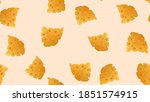 Cheese Seamless Pattern With...