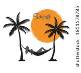 summer vacation on tropical...   Shutterstock .eps vector #1851578785
