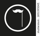 icon false mustache man color...   Shutterstock .eps vector #1851595045