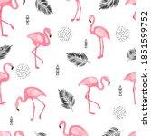 seamless flamingo bird pattern. ...   Shutterstock .eps vector #1851599752