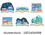 fairy tale concept in cute... | Shutterstock .eps vector #1851606988