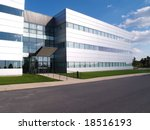 exterior of a modern industrial ... | Shutterstock . vector #18516193