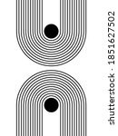 black and white modern poster...   Shutterstock .eps vector #1851627502