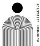black and white modern poster... | Shutterstock .eps vector #1851627505