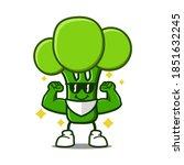 cute broccoli cartoon mascot...   Shutterstock .eps vector #1851632245