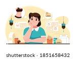 diet plan concept illustration... | Shutterstock .eps vector #1851658432