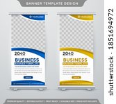 rollup banner template with... | Shutterstock .eps vector #1851694972