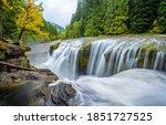 Beautiful River Waterfall In...