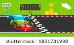 start and finish on road and... | Shutterstock .eps vector #1851731938
