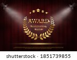 award nomination emblem  stage... | Shutterstock .eps vector #1851739855