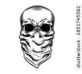 criminal skull vector... | Shutterstock .eps vector #1851745582