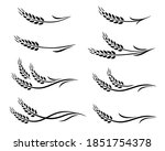 black isolated spikes icon food ... | Shutterstock . vector #1851754378