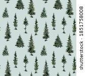 watercolor seamless pattern...   Shutterstock . vector #1851758008
