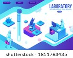 isometric laboratory with... | Shutterstock .eps vector #1851763435
