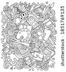 cartoon vector doodles art and... | Shutterstock .eps vector #1851769135