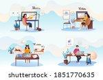 set of illustrations by modern...   Shutterstock .eps vector #1851770635