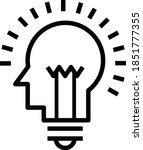 icons with brain  light bulb ... | Shutterstock .eps vector #1851777355