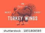 turkey. template label. vintage ...   Shutterstock .eps vector #1851808585