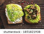 Two Toasts With Avocado  Cream...