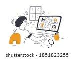 online education  video... | Shutterstock .eps vector #1851823255