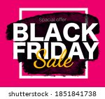 black friday sale poster with... | Shutterstock .eps vector #1851841738