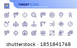 outline icons about target.... | Shutterstock .eps vector #1851841768