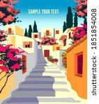 Summer Mediterranean Cityscape...
