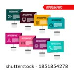 business infographic with... | Shutterstock .eps vector #1851854278