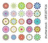 large set of kaleidoscope... | Shutterstock .eps vector #185187416
