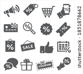 promotion and coupon icons on... | Shutterstock . vector #1851878662