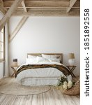 Country Style Bedroom Interior  ...