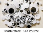 googly eyes are small plastic... | Shutterstock . vector #185190692