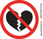 not allowed icon with a broken... | Shutterstock .eps vector #1851907522