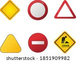 warning icons . caution vector... | Shutterstock .eps vector #1851909982