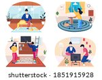 fashion designer is making a...   Shutterstock .eps vector #1851915928