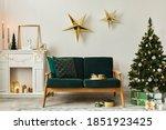 Stylish Christmas Living Room...