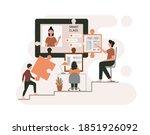 e learning  online education at ...   Shutterstock .eps vector #1851926092
