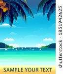 tropical island landscape with... | Shutterstock .eps vector #1851942625