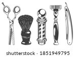 hairdressers tools and... | Shutterstock .eps vector #1851949795