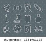 winter gloves and christmas...   Shutterstock .eps vector #1851961138