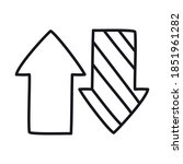 up down arrows icon over white...