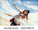 summer holidays and teenage... | Shutterstock . vector #185198672