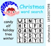 christmas word search puzzle... | Shutterstock .eps vector #1852007398