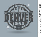 Stamp or label with text Denver, Colorado inside, vector illustration