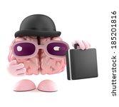 3d render of a brain dressed as ... | Shutterstock . vector #185201816