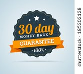 30 day money back badge. vector ... | Shutterstock .eps vector #185202128