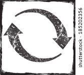 grunge circular arrows | Shutterstock .eps vector #185202356