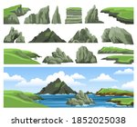 mountains  rocks  cliffs ... | Shutterstock .eps vector #1852025038