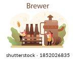 brewery concept. craft beer... | Shutterstock .eps vector #1852026835