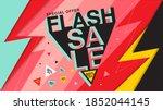 flash sale banner   vector flat ... | Shutterstock .eps vector #1852044145